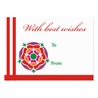 Carte rouge de fleur meilleurs voeux carte de visite grand format