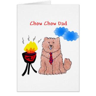 Carte rouge de papa de bouffe de bouffe