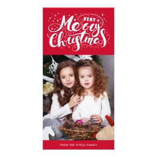 Carte Rouge de Photocard | de Noël très Joyeux