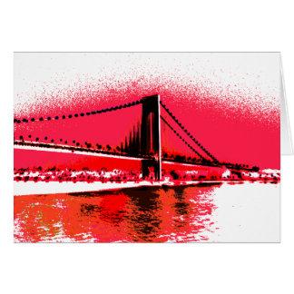 Carte rouge de pont de rivières