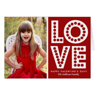 Carte rouge de Saint-Valentin de chapiteau d'amour