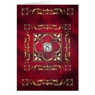 Carte rouge de Tableau en verre souillé de Fleur d