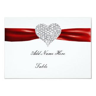 Carte rouge d'endroit de Tableau de mariage de Invitations Personnalisées
