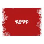 Carte rouge des flocons de neige RSVP Carton D'invitation 8,89 Cm X 12,70 Cm