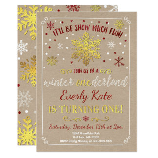 Carte Rouge et or d'invitation d'anniversaire