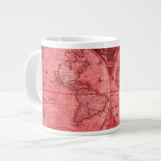 Carte rouge J Blaeu 1664 du monde d'antiquité de Mug Jumbo