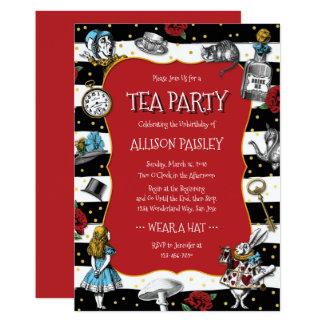 Carte Rouge lunatique de thé du pays des merveilles