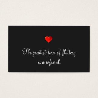 Carte rouge mignonne de référence de coeur