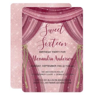 Carte Rougissent anniversaire de sweet sixteen de rose