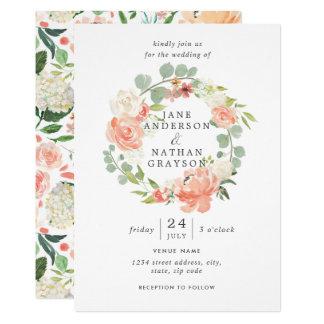 Carte Rougissent le mariage floral de guirlande