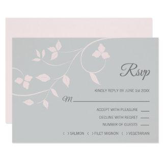 Carte Rougissent le mariage rose et gris d'été de