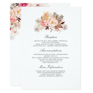 Carte Rougissent l'invité floral rose de l'information