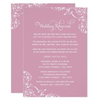 Carte Rouleau de rose rose de la répétition | de mariage