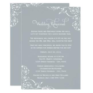 Carte Rouleau gris-clair de la répétition | de mariage