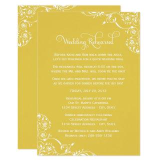 Carte Rouleau jaune de la répétition | de mariage
