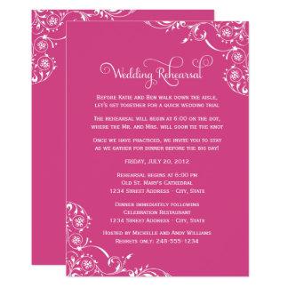 Carte Rouleau rose magenta de la répétition | de mariage