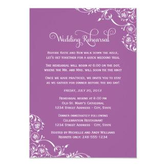 Carte Rouleau violet de la répétition | de mariage