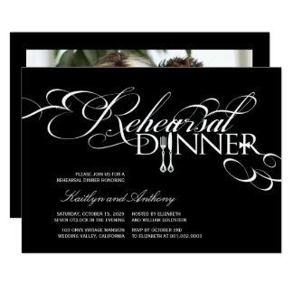Carte Rouleaux classiques de dîner de répétition