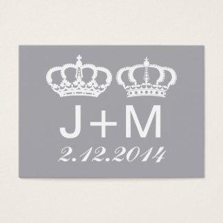 Carte royale grise d'endroit de mariage de couples