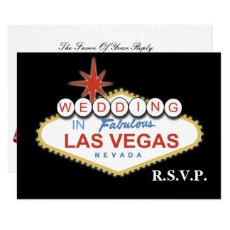 Carte Rsvp de mariage de Vegas