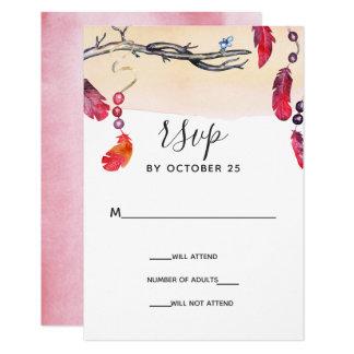Carte Rsvp d'invitations de mariage d'esprit libre de