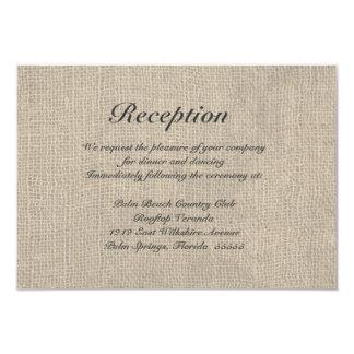 Carte rustique de directions de réception de carton d'invitation 8,89 cm x 12,70 cm
