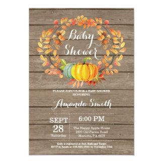 Carte rustique d'invitation de baby shower de