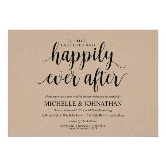 Carte Rustique D Invitation De Brunch De Mariage