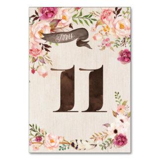Carte rustique florale 11 de nombre de Tableau de