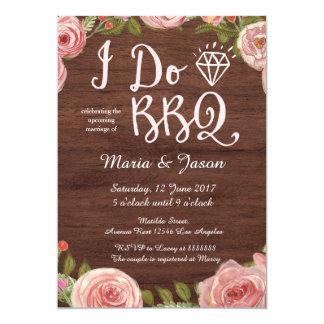 Carte Rustique je fais l'invitation de BBQ