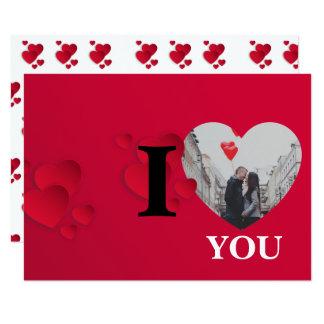 Carte Saint-Valentin rouge de cadre de photo de coeurs
