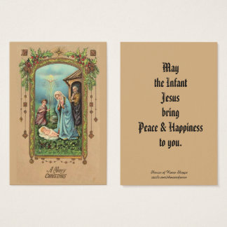 Carte sainte de salutation de nativité de Noël