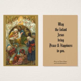 Carte sainte de salutation d'épiphanie de nativité