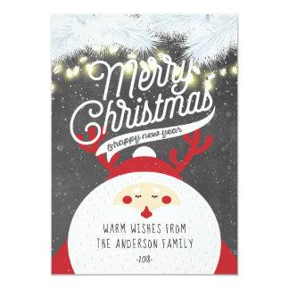 Carte Salutation de bonne année de Joyeux Noël de Père