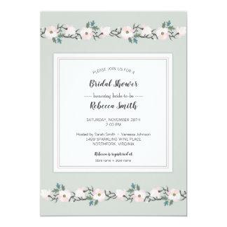 Carte Sauge + rougissent l'invitation nuptiale floral