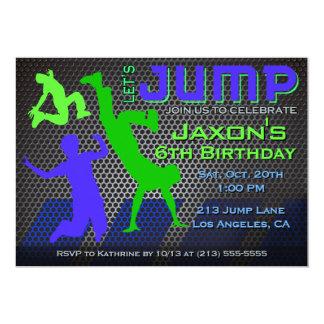 Carte Sautez l'invitation d'anniversaire - trempoline de