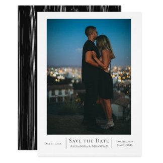 Carte Sauvez le mariage blanc de noir de date
