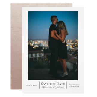 Carte Sauvez le mariage de date personnalisé