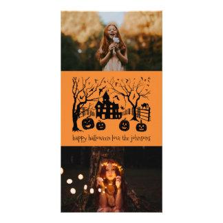 Carte Scène éffrayante classique heureuse de Halloween