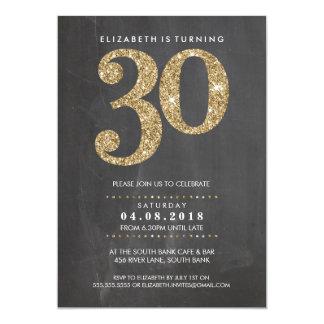Carte Scintillement moderne de l'or 30 de GRAND d'ÂGE