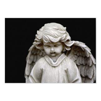 Carte Sculpture d'ange de cupidon, mémorial, condoléance