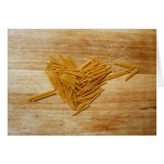 Carte se pliante d'amour de spaghetti