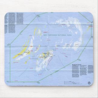 Carte sèche de Tortugas Tapis De Souris
