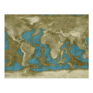 Carte sèche du monde