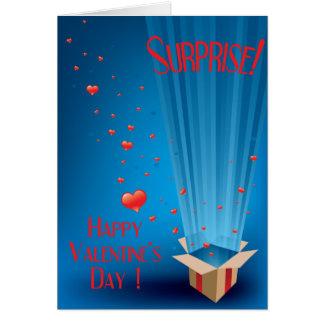 Carte secrète de Valentine d'amant de surprise