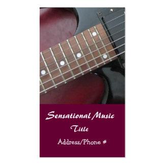 Carte sensationnelle d'industrie musicale de carte de visite standard