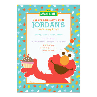 Carte Sesame Street | Elmo - anniversaire de petit