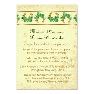 Carte Shamrocks et mariage irlandais d'or