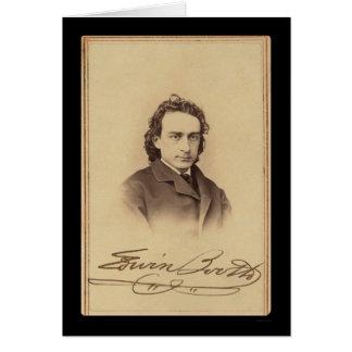 Carte signée de la cabine 1862 d'Edwin d'acteur
