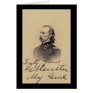 Carte signée par Custer 1866 de George Armstrong